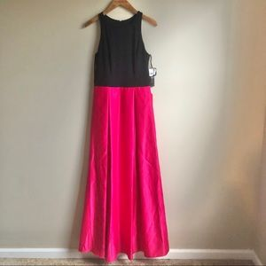 Betsy & Adam Hot Pink Formal Gown